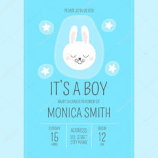 free stock illustration cute baby shower boy invite baby shower poster template excel