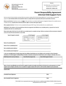 printable 32 free child support agreement templates pdf & ms word child support agreement template texas excel
