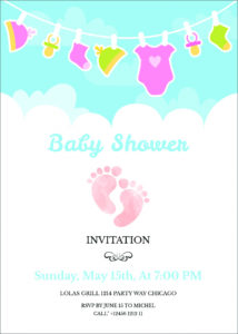 printable  free editable baby shower invitation card templates baby shower poster template excel