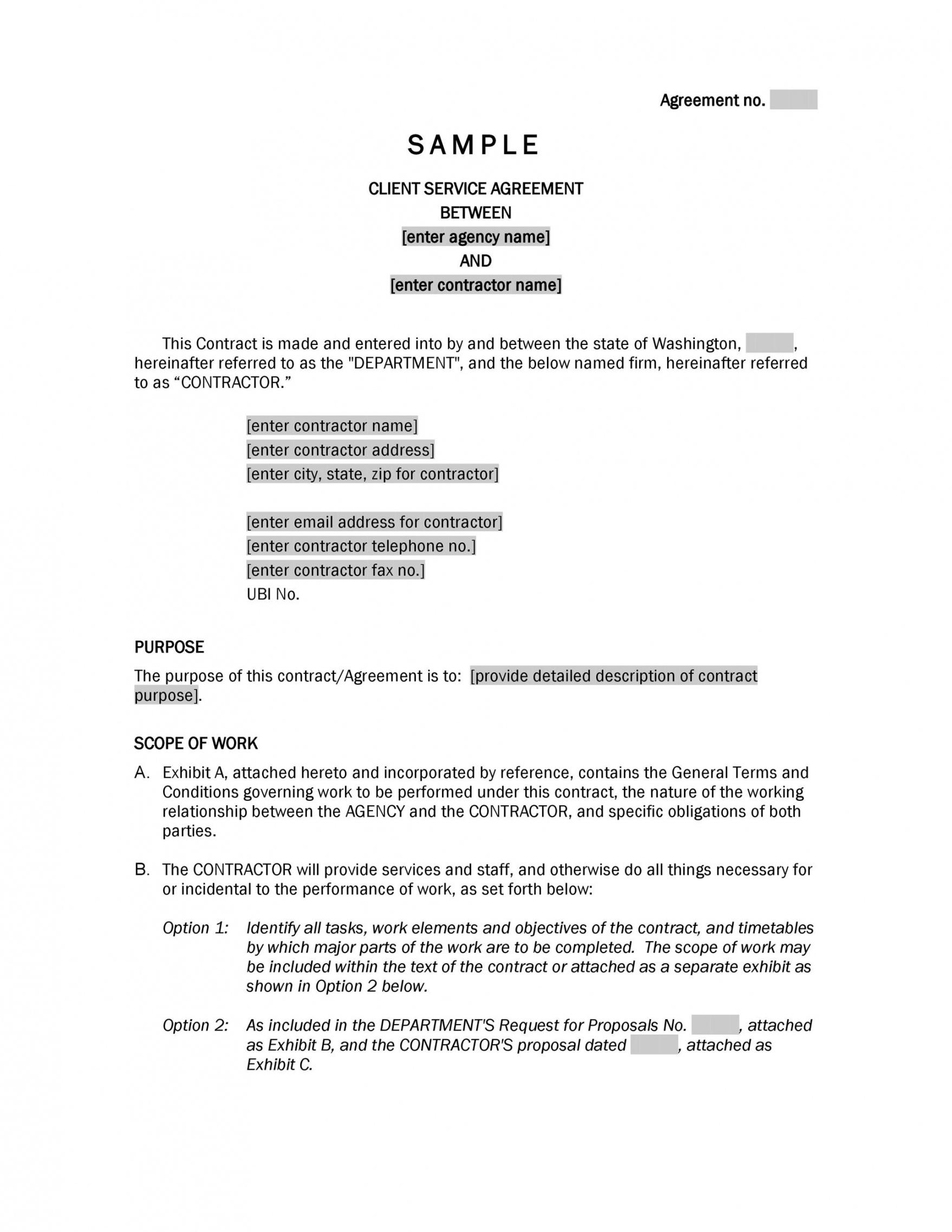 sample 50 professional service agreement templates & contracts service provision agreement template doc