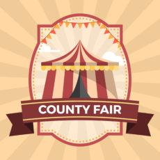 sample flat county fair badge poster illustration template county fair poster template example