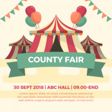 sample flat county fair tent festival vector illustration county fair poster template excel