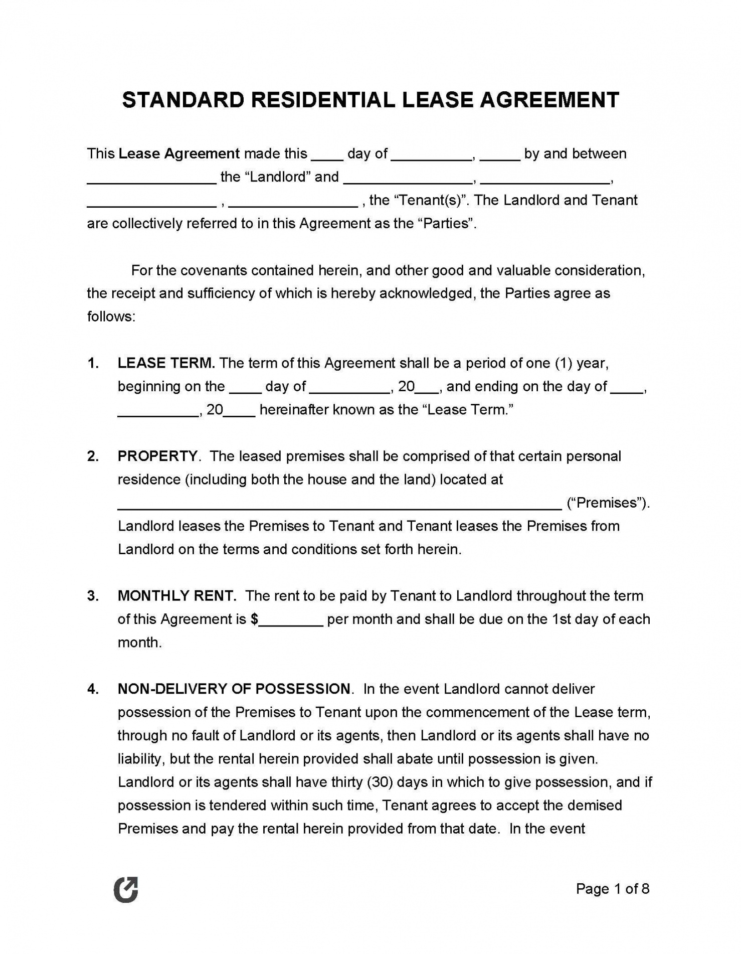 sample free printable lease agreement template ~ addictionary apartment rental agreement template word excel