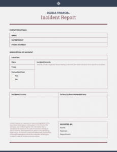 sample how to write an effective incident report  templates accident investigation form template doc