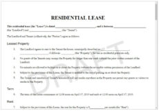 sample lease agreement form  rental contract template & for leasing apt lease agreement template sample