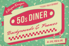 editable 13 retro diner vector logo templates images  flat vector retro diner menu template