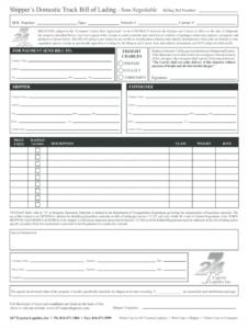editable bill of lading form  fill online printable fillable bill of lading form template example