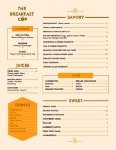 editable breakfast menu template breakfast menu template sample