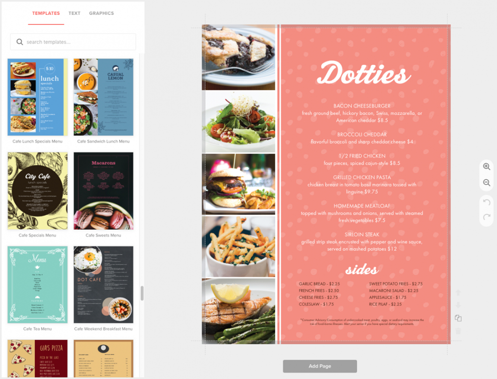 editable diner menu maker fullcolor multipage menus  musthavemenus retro diner menu template word