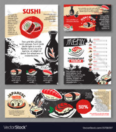 editable japanese seafood restaurant sushi menu template japanese menu template excel
