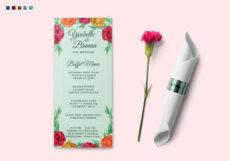 editable wedding buffet menu design template in psd word publisher wedding buffet menu template sample