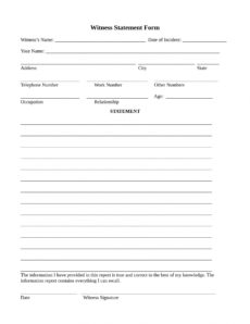 free 14 employee witness statement forms in ms word  pdf witness affidavit form template doc