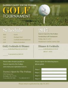 free 2017 golf tournament registration form · darren gardner golf tournament registration form template excel
