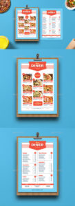 free diner menu graphics designs & templates from graphicriver retro diner menu template excel