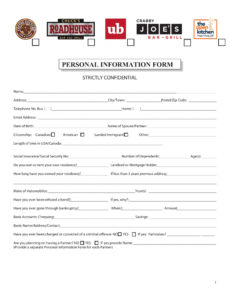 free free 16 personal information forms in pdf  ms word  excel personal information request form template doc