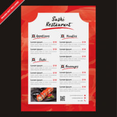 free japanese menu restaurant template editable vectorcoddih japanese menu template