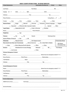 free non medical home care forms pdf  fill out and sign printable pdf template   signnow home care assessment form template sample