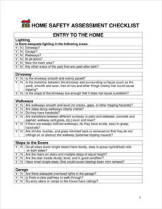 printable 4 home safety assessment templates  pdf doc  free home care assessment form template word