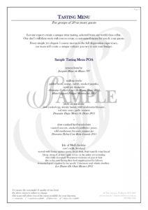 printable bespoke tasting menus at steves in nedlands wine tasting menu template pdf
