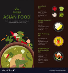 printable design template of asian food menu asian restaurant menu template sample