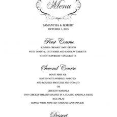 printable download a free wedding menu template wedding buffet menu template