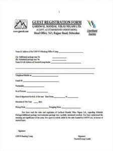 printable free 22 hotel registration forms in pdf  ms word hotel application form template example