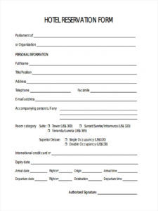 printable free 22 hotel registration forms in pdf  ms word hotel application form template excel