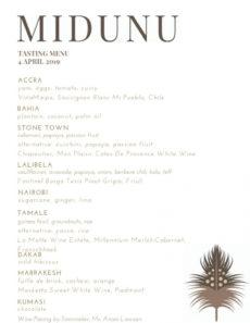 printable sample dinner menu — midunu wine tasting menu template pdf