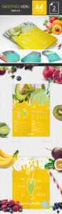 printable smoothie flyer graphics designs & templates from graphicriver smoothie menu template word