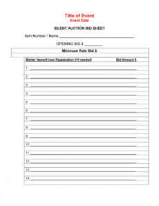 sample 40 silent auction bid sheet templates word excel ᐅ silent auction registration form template doc