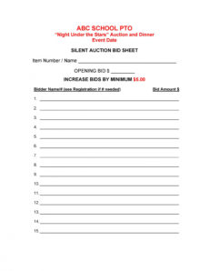 sample 40 silent auction bid sheet templates word excel ᐅ silent auction registration form template example