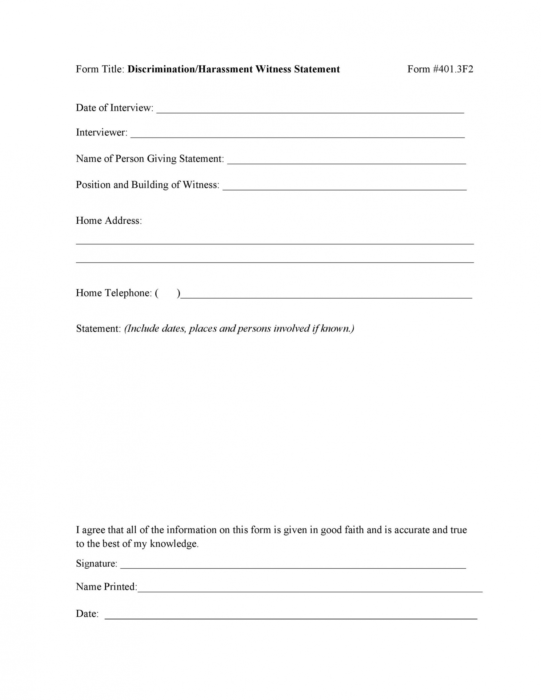 sample 50 professional witness statement forms & templates ᐅ witness affidavit form template excel