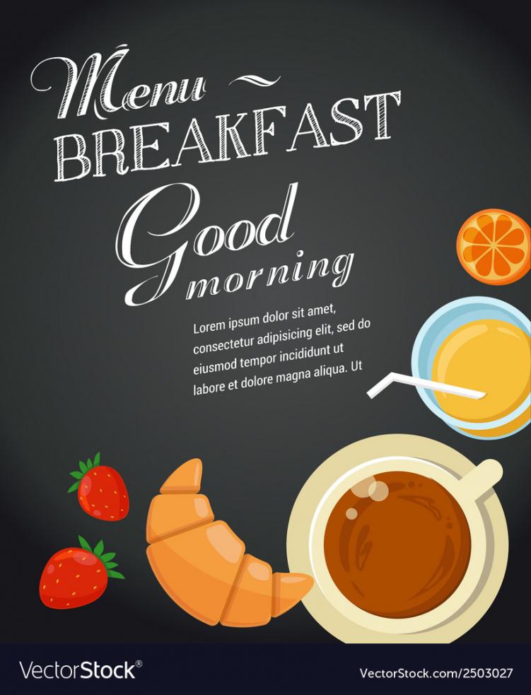 sample breakfast menu template breakfast menu template excel