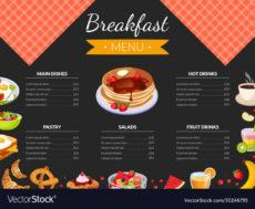 sample breakfast menu template for restaurant and cafe breakfast menu template excel