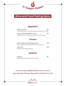 sample food and wine pairing menu  rules for wine & food pairing wine tasting menu template pdf