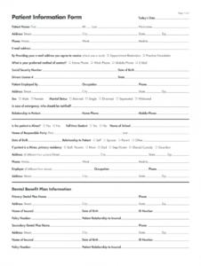 sample patient information form  fill online printable fillable dental patient information form template word