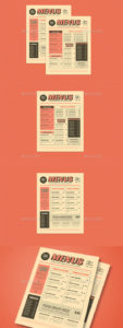 sample retro menu graphics designs & templates from graphicriver retro diner menu template doc