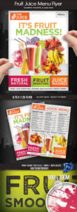 sample smoothie flyer graphics designs & templates from graphicriver smoothie menu template pdf