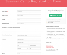 sample summer camp registration forms template frequently used sports camp registration form template sample