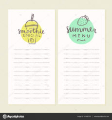 smoothie menu templates 141087750 smoothie menu template pdf