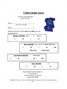 tshirt order form  6 free templates in pdf word excel t shirt pre order form template example