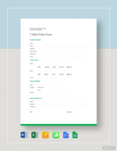 tshirt order form template  17 word excel pdf t shirt pre order form template sample
