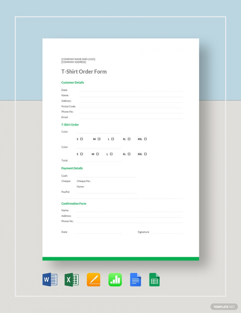 tshirt order form template  17 word excel pdf t shirt pre order form template sample