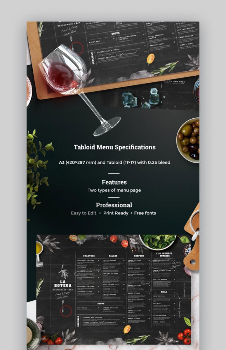 20 plantillas geniales de menús de restaurantes los mejores fancy restaurant menu template sample