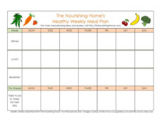 40 weekly meal planning templates ᐅ templatelab diet menu template