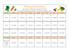 40 weekly meal planning templates ᐅ templatelab diet menu template word