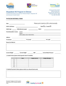 50 referral form templates medical & general ᐅ templatelab doctor referral form template