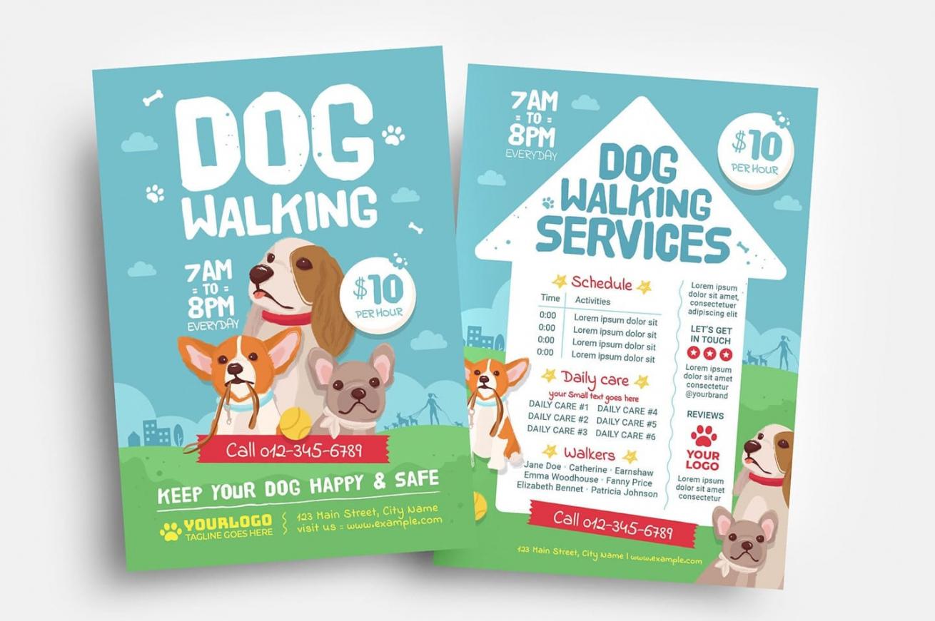 dog walking flyer template  psd ai vector  brandpacks dog walking poster template sample
