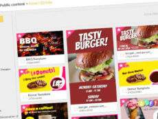 editable 15 free new templates for your digital menu board fast food menu board template word