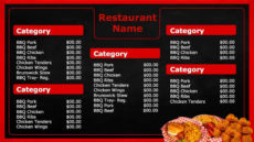 editable bbq menu templates  word excel fomats barbecue menu template excel